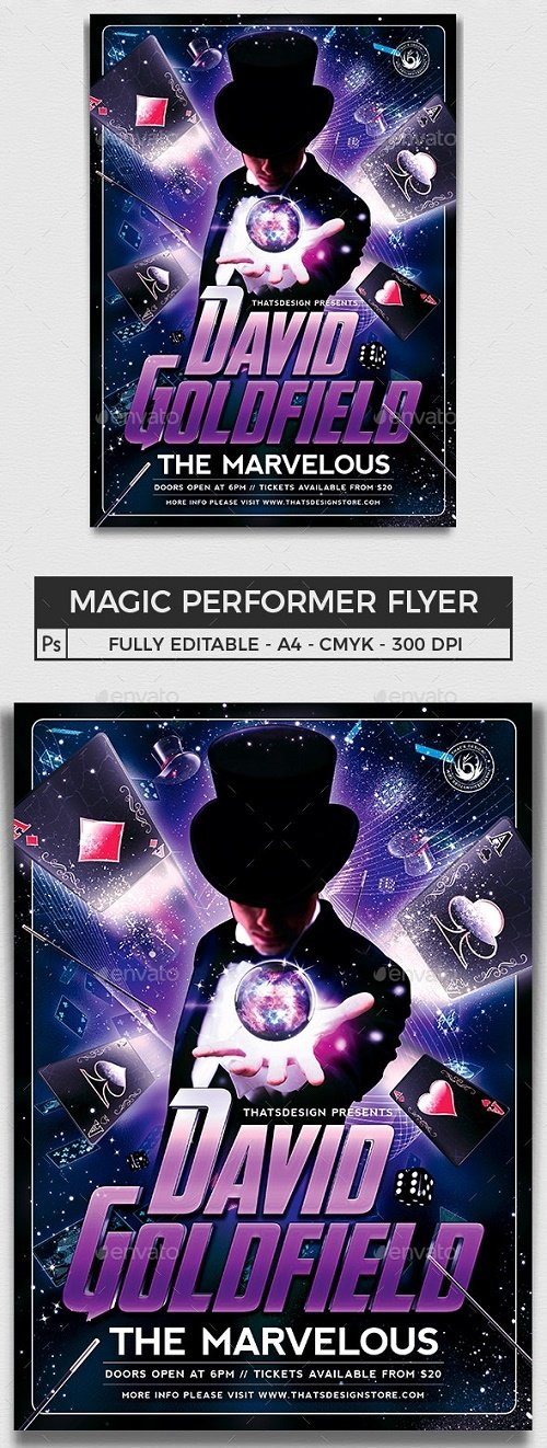 Magic Performer Flyer Template V2 - 8718902 - 91827