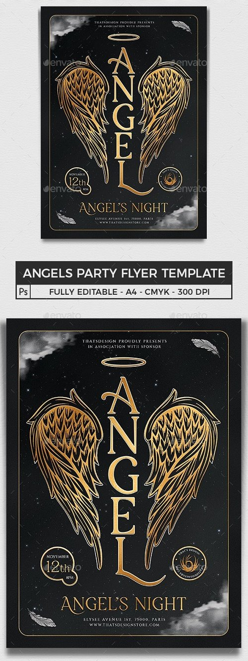 Angels Party Flyer Template V3 - 25891488 - 4638307