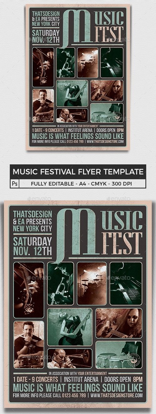 Music Festival Flyer Template V2 - 9411085 - 104824