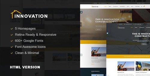 ThemeForest - Innovation v1.0 - Construction Building HTML Template (Update: 13 November 15) - 13313413