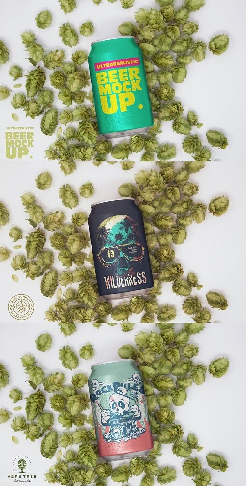 Hop Beer Can Mockup - 4627035