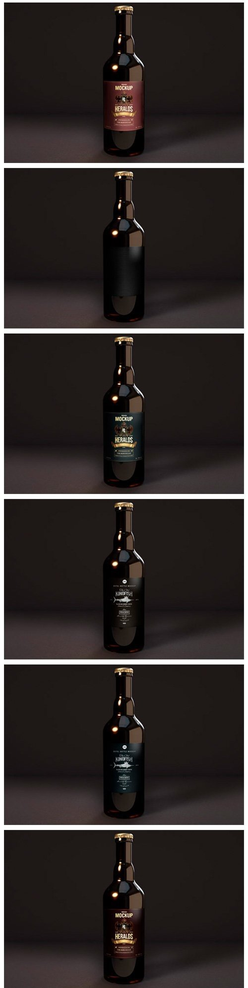 Premium Beer Bottle Mockup - DARKIII - 4501953