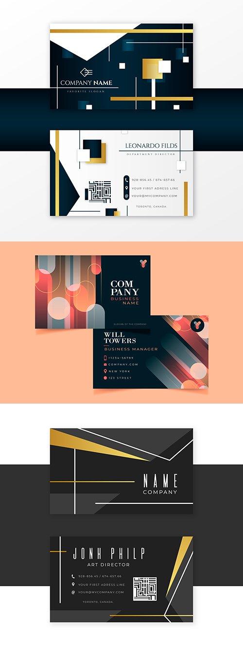 Elegant design template creative business card