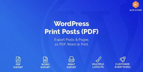 CodeCanyon - WordPress Print Posts & Pages (PDF) v1.3.0 - 20234379
