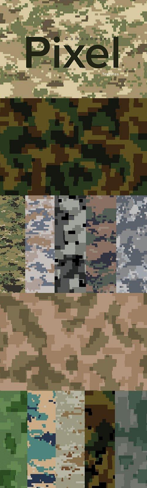 Pixel camouflage textures - 3918280