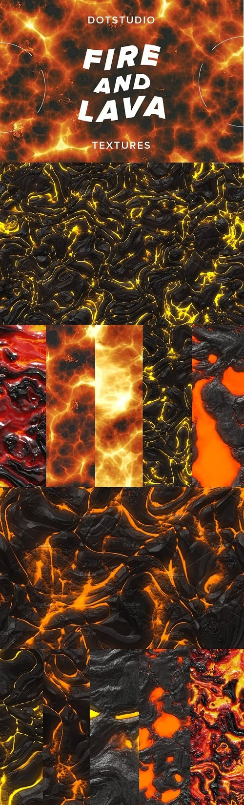 Fire and lava textures - 4278355