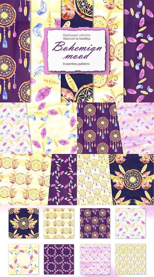 Bohemian mood - digital paper pack - 4675463