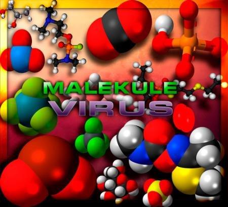 Png клипарты для фоторамки - Малекулы под микроскопом