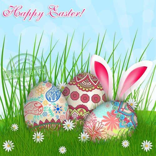 Многослойный PSD-исходник - Со светлой Пасхой! Happy Easter