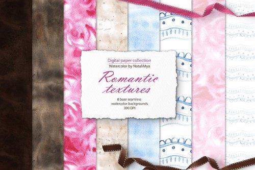 Watercolor romantic textures - 4722203