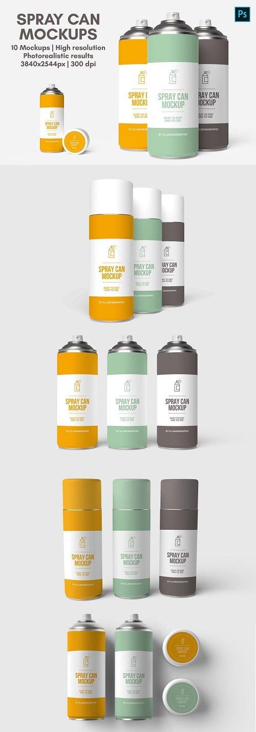 Spray Can Mockups - 10 views - 4725600