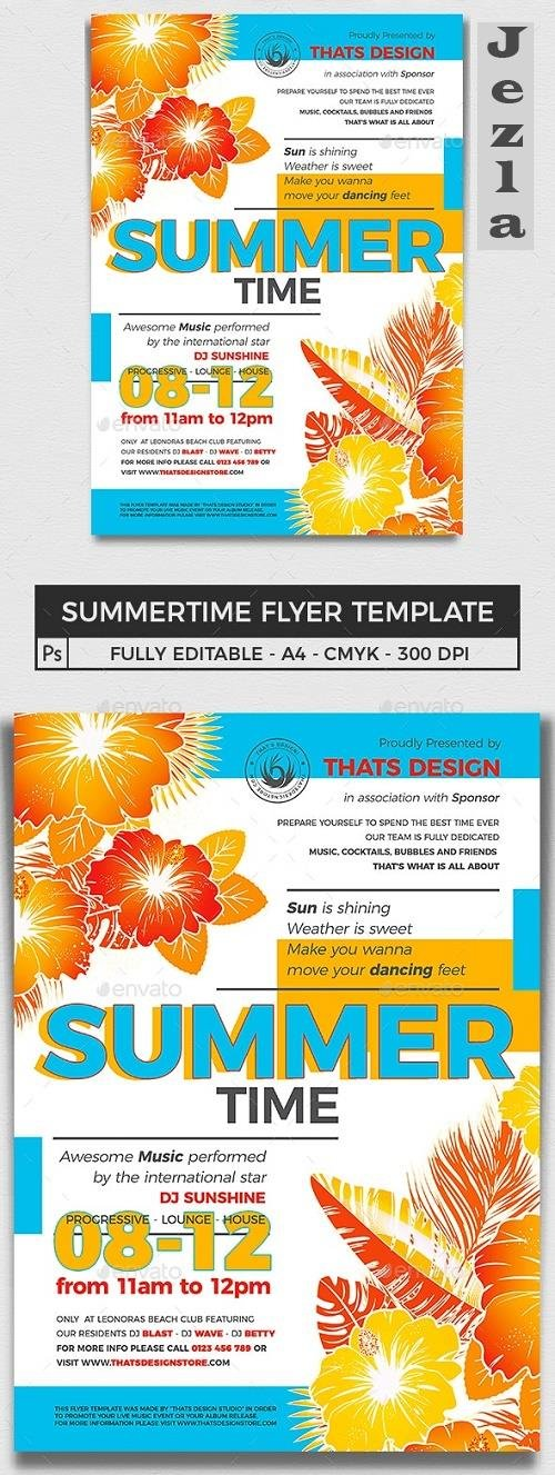 Summertime Flyer Template V2 - 16473326 - 719987
