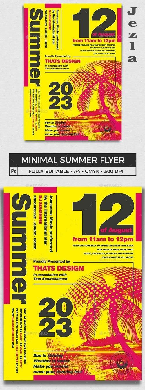 Minimal Summer Flyer Template V1 - 16540130 - 727538