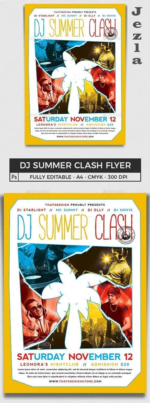 DJ Summer Clash Flyer Template - 16250333 - 691262