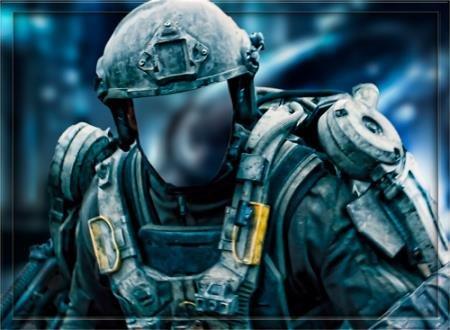 Мужской шаблон - Солдат будущего