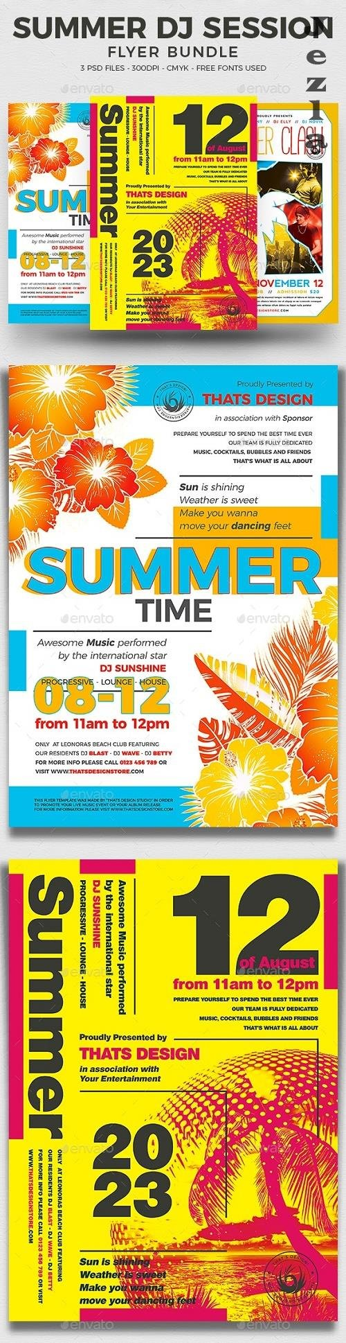Summer DJ Session Flyer Bundle  - 17219881 - 800787