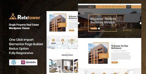 ThemeForest - Relxtower v1.0 - Single Property WordPress Theme - 25878015