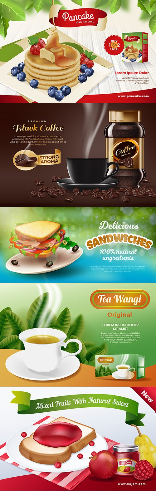 Food advertising drinks and food design
