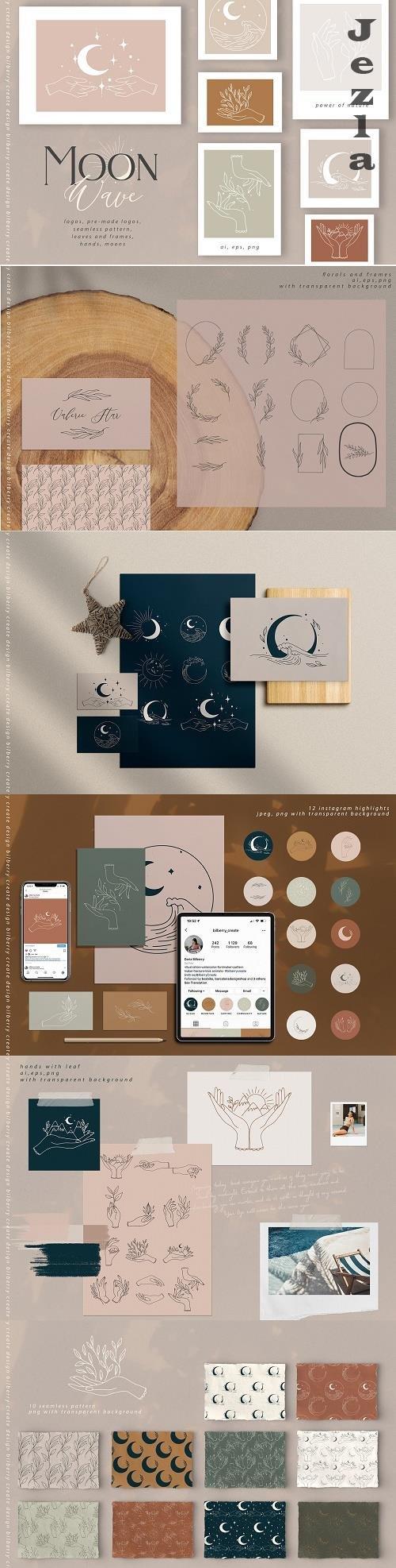 Moon Wave graphic art set - 4599311