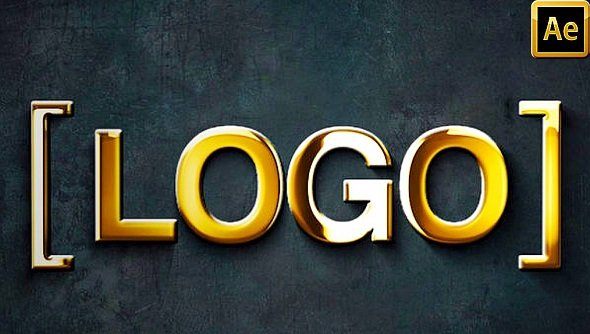 Gold 3D Logo Animation 115 - Project for After Effects