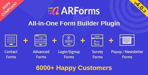 CodeCanyon - ARForms v4.0.3 - Wordpress Form Builder Plugin - 6023165 -