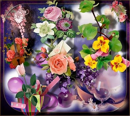 Растровые клипарты - Нежность цветов