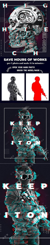 Glitch Poster Maker PHSP Action 26249104