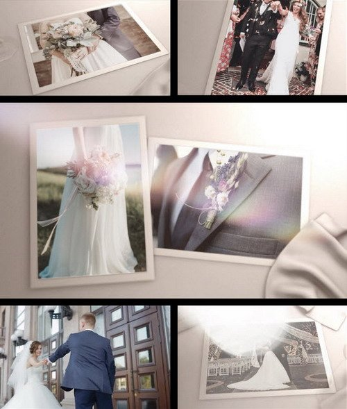 Save The Date Wedding Slideshow - Premiere Pro Template