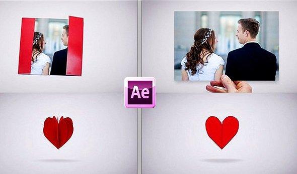 Romantic Wedding Invitation Greeting Card Envelope 663068 - AFEFS Templates