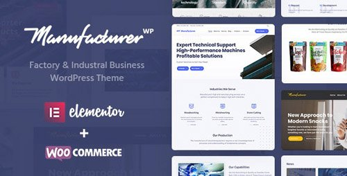 ThemeForest - Manufacturer v1.2.1 - Factory and Industrial WordPress Theme - 22672753 -