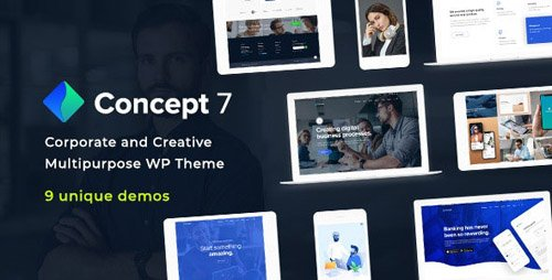 ThemeForest - Concept Seven v1.6 - Responsive Multipurpose WordPress Theme - 23657724