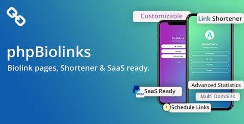CodeCanyon - BioLinks v4.6.1 - Instagram & TikTok Bio Links & URL Shortener (SAAS Ready) - 20740546 -