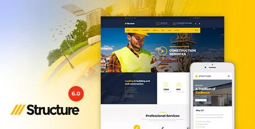 ThemeForest - Structure v6.9 - Construction Industrial Factory WordPress Theme - 10798442