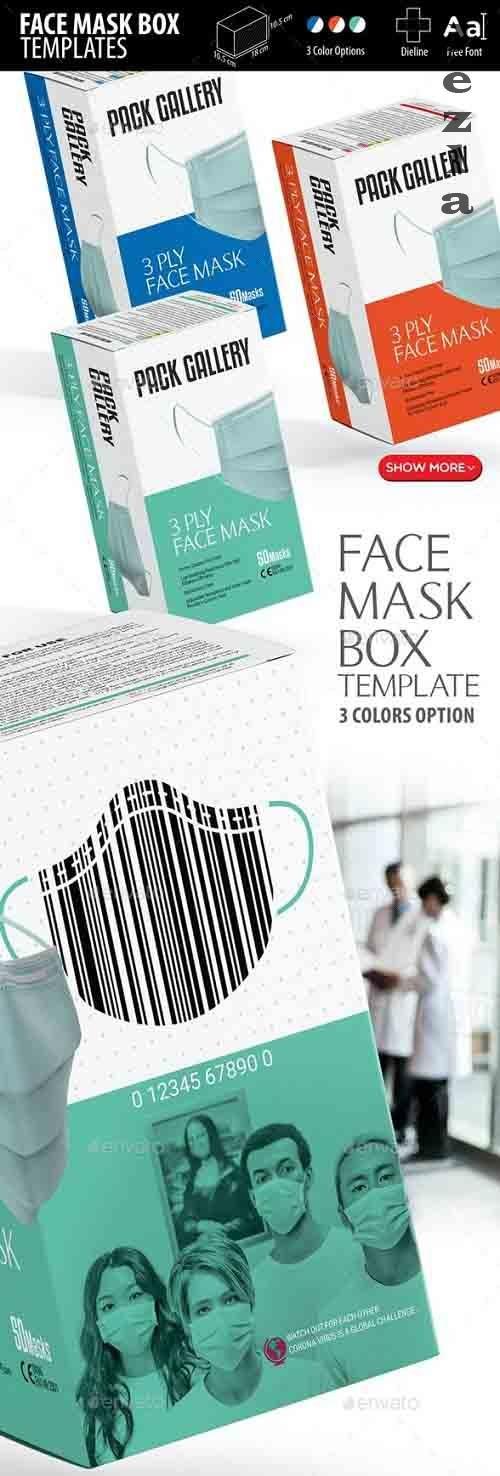 Face Mask Box Templates - 26317981
