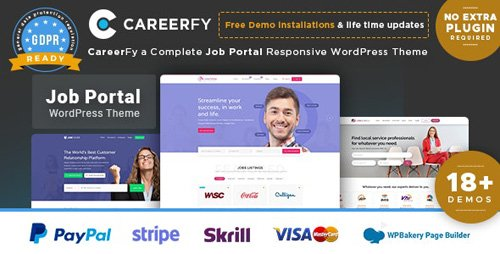ThemeForest - Careerfy v3.8.0 - Job Board WordPress Theme - 21137053