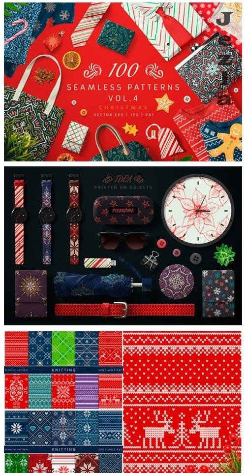 100 Seamless Patterns Vol.4 Xmas - 4142532