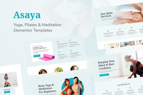 ThemeForest - Asaya v1.0 - Yoga Meditation Elementor Kit (Update: 12 May 20) - 26367062