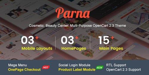 ThemeForest - Parna v1.0.4 - Multipurpose Responsive OpenCart 2.3 Theme | Cosmetic | Beauty Center | Fashion Store - 19991127