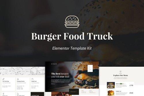 ThemeForest - Burger Food Truck v1.0 - Popup Restaurant Elementor Template Kit - 25957154