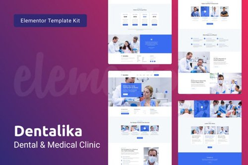 ThemeForest - Dentalika v1.0 - Dental Clinic & Medical Health Elementor Template Kit - 26210567