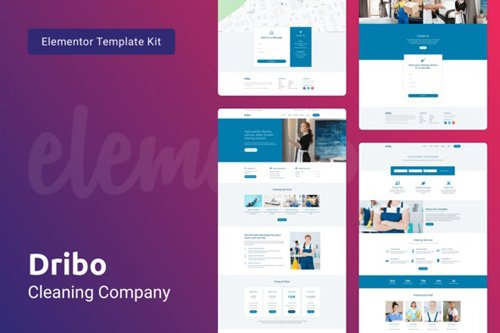 ThemeForest - Dribo v1.0 - Cleaning Company Template Kit for Elementor - 25937649