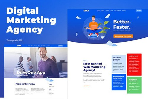 ThemeForest - DMA v1.0 - Digital Marketing Agency Template Kit - 26414758