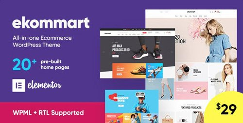 ThemeForest - ekommart v1.5.9 - All-in-one eCommerce WordPress Theme - 25893445