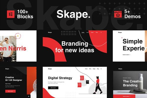 ThemeForest - Skape v1.0 - Creative Digital Business Elementor Template Kit (Update: 13 May 20) - 26417206