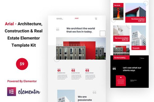 ThemeForest - Arial v1.0 - Architecture, Construction & Real Estate Elementor Template Kit - 26117232