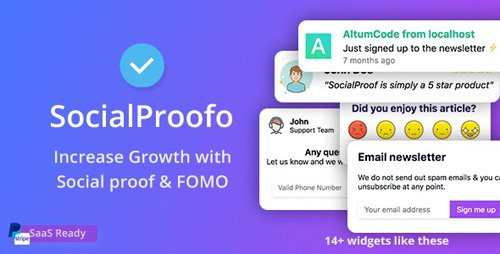 CodeCanyon - Social Proof v1.7.5 - 14+ Social Proof & FOMO Notifications for Growth (SaaS Ready) - 24033812 -