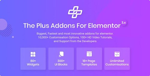 CodeCanyon - The Plus v3.3.4 - Addon for Elementor Page Builder WordPress Plugin - 22831875 -