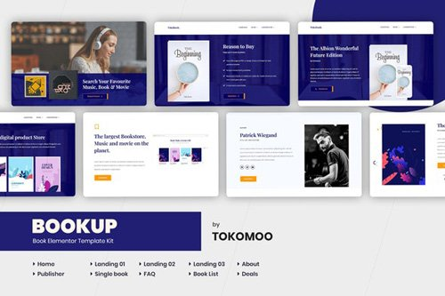 ThemeForest - Bookup v1.0 - Book Elementor Template Kit - 26243081