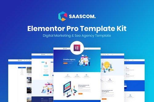 ThemeForest - Saascom v1.0 - Digital Marketing & SEO Agency Template Kit - 26292031