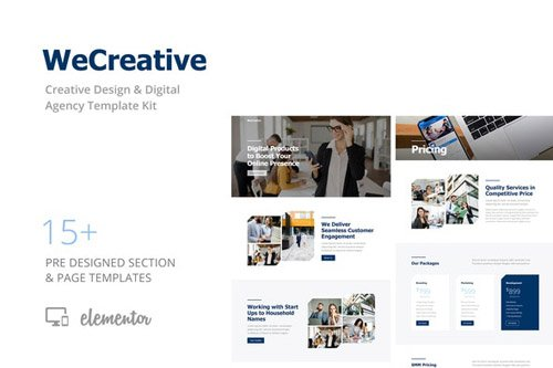 ThemeForest - WeCreative v1.0 - Digital Agency Template Kit (Update: 8 May 20) - 26538915